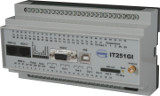 ISDN/GSM OPC device IT251GI-OPC for DIN rail mounting with 20 switching inputs and 6 switching outputs