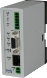 ISDN alarm modem for DIN rail mounting with 2 inputs and 1 output